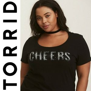 NWT Torrid Cheers Short Sleeve Graphic Tshirt